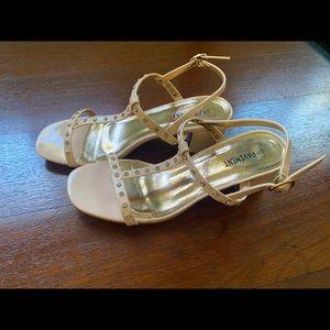 baby pink heels , worn twice